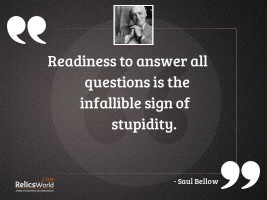 Readiness to answer all questions