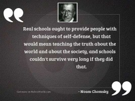 Real schools ought to provide
