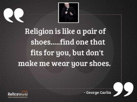Religion is like a pair