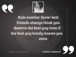 Rule number three Best friends