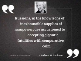 Russians in the knowledge of