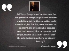 Self love, the spring of