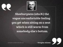SHOEBURYNESS absn The vague uncomfortable