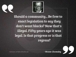 Should a community... be free