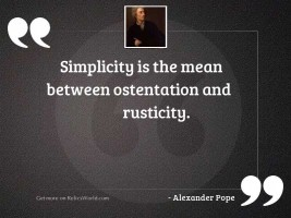 Simplicity is the mean between