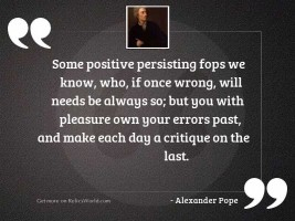 Some positive persisting fops we