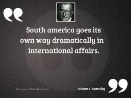 South America goes its own