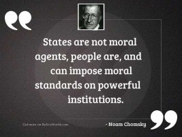 States are not moral agents,