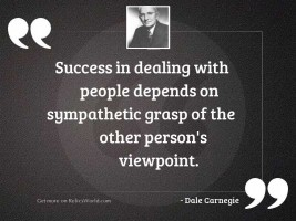 Success in dealing with people