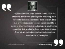 Suppose Vietnam could separate itself