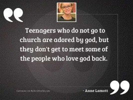 Teenagers who do not go
