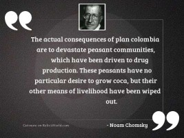 The actual consequences of Plan