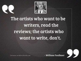 The artists who want to