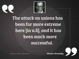 The attack on unions has