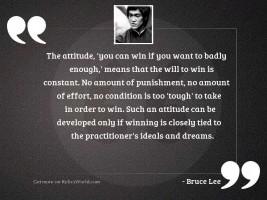The attitude You can win