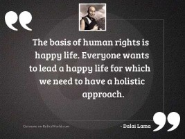 The basis of human rights