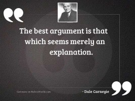 The best argument is that