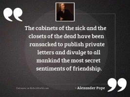 The cabinets of the sick