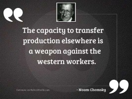 The capacity to transfer production