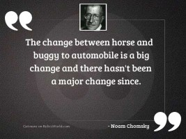 The change between horse and