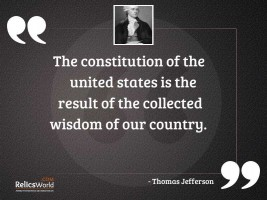 The constitution of the United