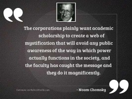 The corporations plainly want academic
