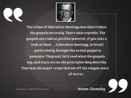 The crime of liberation theology