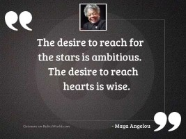 The desire to reach for