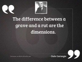 The difference between a grave