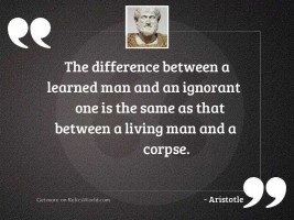 The difference between a learned