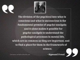 The division of the psychical