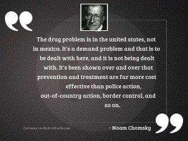 The drug problem is in
