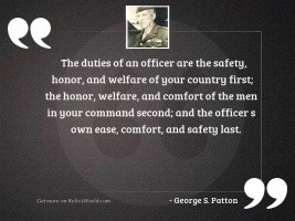 The duties of an officer