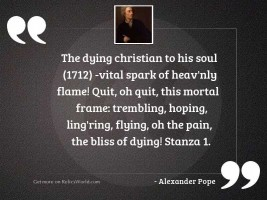 The Dying Christian to His