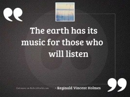 The earth has its music