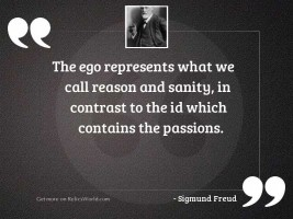 The ego represents what we
