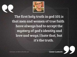 The first holy truth in