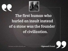 The first human who hurled