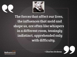 The forces that affect our