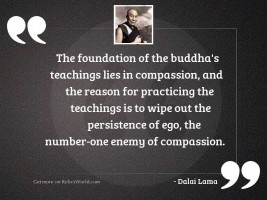 The foundation of the Buddha'