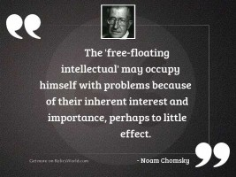 The 'free floating intellectual' may