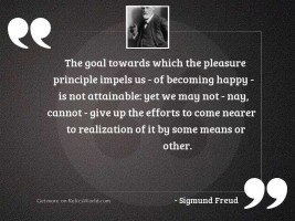 The goal towards which the