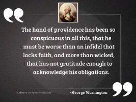 The Hand of providence has