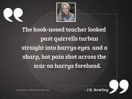 The hook nosed teacher looked