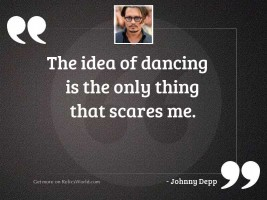 The idea of dancing is