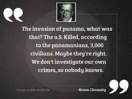 The invasion of Panama, what