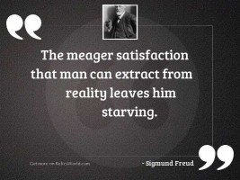 The meager satisfaction that man