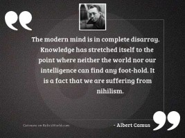 The modern mind is in