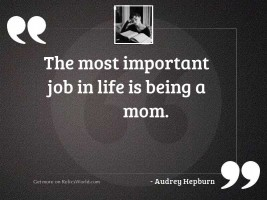 The most important job in