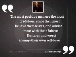 The most positive men are